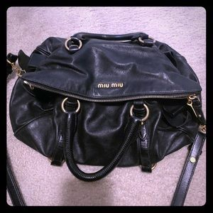 Miu miu Vitello bag black